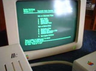 The Apple ][c green phosphor monitor