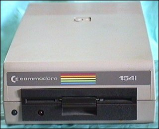 The Commodore 1541 5 1/4 disk drive